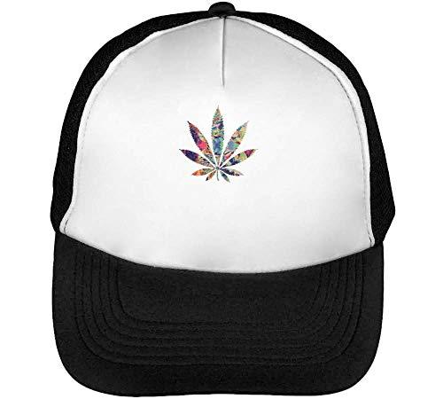 Cannabis Gorras Hombre Snapback Beisbol Negro Blanco