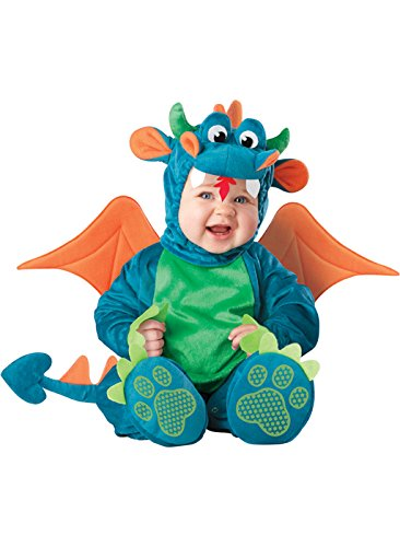 InCharacter Baby Dinky Dragon Costume, Teal/Green, Small (6-12 Months) ()