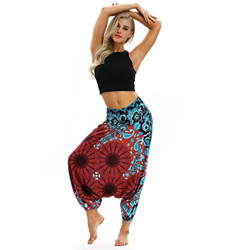 Casual Yoga Mujeres Loose Aladdin Mono Pantalones Baggy Harem Summer Rojo Pantalones CICIYONER 54BwqO4