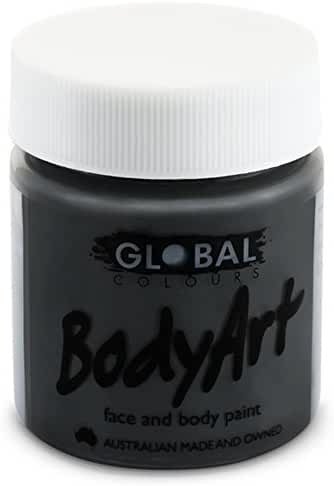 Global Body Art Face Paint - Liquid Black (45 ml/1.5 oz)