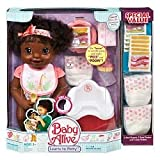 : African American Baby Alive Doll Learns to Potty & Bonus Value Pack