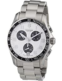 Victorinox Swiss Army Men's Chrono Classic 241495 Silver Stainless-Steel Swiss Quartz Watch with Silver Dial