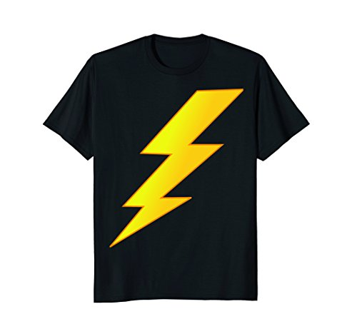 Last Costumes Men Minute (Mens Lightning Bolt last minute Halloween costume shirt Large)