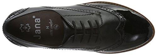 Jana 23702, Zapatos de Vestir para Mujer Negro (Black 001)