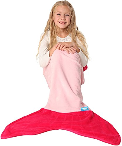 Family Of 7 Costume Ideas (ENFY Mermaid Tail Blanket - Super Soft and Warm Minky Fabric Blanket Perfect Gift for Girls Ages 3-12 (Light Pink & Hot Pink))