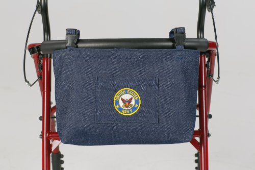 Granny Jo Products US Military Walker/Wheelchair Bag, Navy