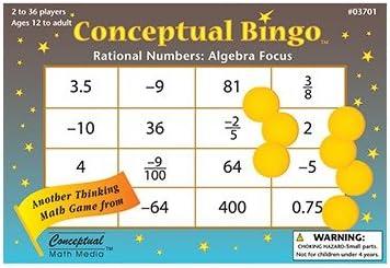 amazon com conceptual bingo rational numbers algebra focus early