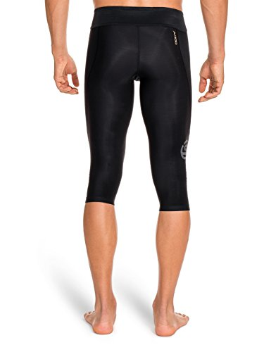 Skins Men's A400 Compression 3/4 Tights, Black, Small by Skins (Image #2)