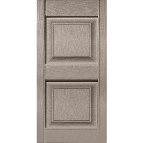 Mid America 15 in. Vinyl Raised Panel Shutters in Clay - Set of 2 (14.75 in. W x 1 in. D x 46.75 in. H (9.06 lbs.)) -