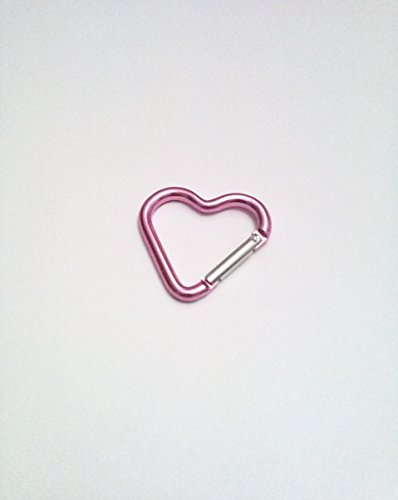 DarrellsWorld Pink Heart Shaped Carabiner with Snap Clip Hook -