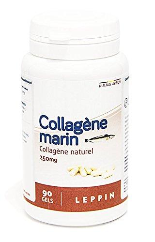 Leppin – Colágeno marino 90 Cápsulas – 90% de proteínas collagéniques – régénère las telas