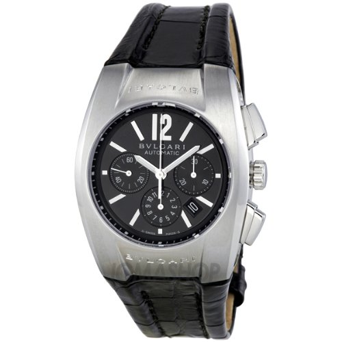 Bvlgari Ergon Black dial Chronograph Stainless Steel Mens Watch EG35BSLDCH