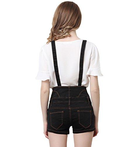 Nero Donne le Salopette Corta Bottoni Casual Di Sexy Corti Shorts Denim Alta Estate Donna 2018 In Pants Hot Vita Con Jean Jeans Jeans Da tienew PSAxq75dAw