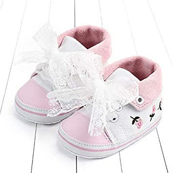 Baby Girls Princess Shoes Spring Autumn Cute Butterfly Crown Anti-Slip Toddler Shoes Baby Soft Soled Shoes Indoor Crib Shoes 13-18months/_13cm, White