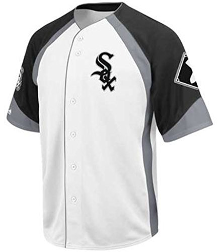 VF Chicago White Sox MLB Mens Majestic Wheelhouse Jersey White Big Sizes (3XL)