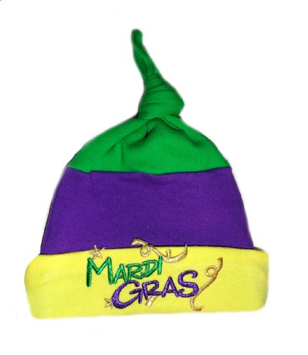 Mardi Gras Baby Clothes - Knotted Baby Hat