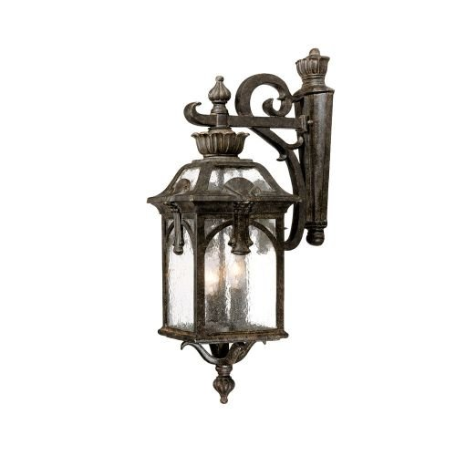 Acclaim 7112BC Belmont Collection 3-Light Wall Mount Outdoor Light Fixture, Black Coral (Coral Collection)