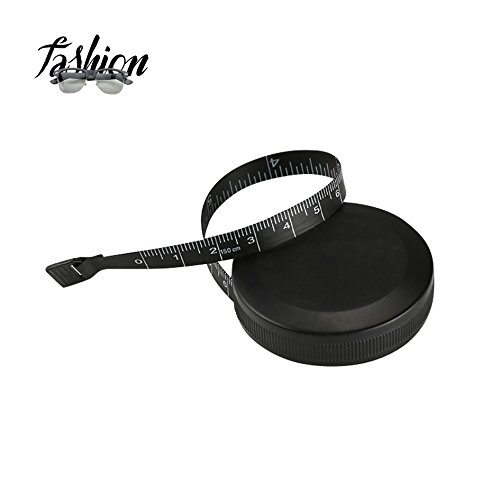 Tape Measure Retractable Measuring Tape for Cloth Body Measuring Tape and the Dual Sided Tape Measure for Sewing Tailor Fabric Measuring Tape (Black)