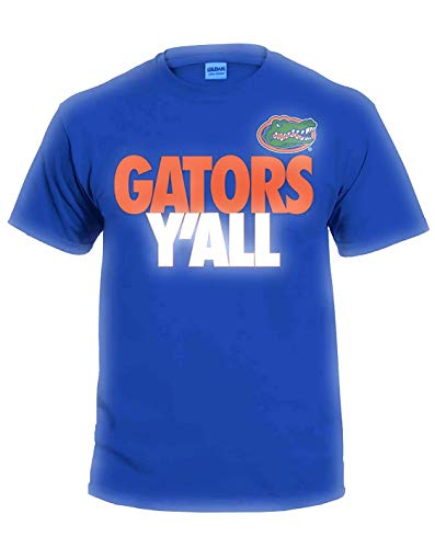 (New World Graphics NCAA Y'all T Shirts - Multiple Universities Available - Up to 2X and 3X (Florida Gators, X-Large))