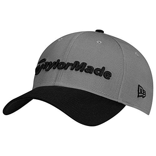 TaylorMade Golf 2017 lifestyle new era 39thirty hat grey/black l/xl