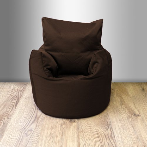 Ready Steady Bed Childrens 100% Cotton Twill Pre-Filled Bean Chair, Chocolate