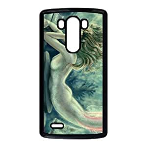 LG G3 Cell Phone Case Black Lost Books Reading Mermaid LSO7773977