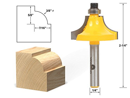 Yonico 13174q Round Over Beading Edging Router Bit with 3/8""