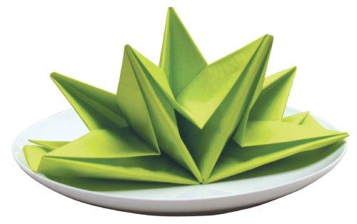 Green Folded Dinner Napkins - 8