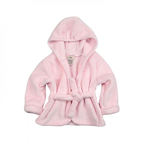 My Blankee Hooded Lightweight Minky Bath Robe, Pink, 18-24 Months