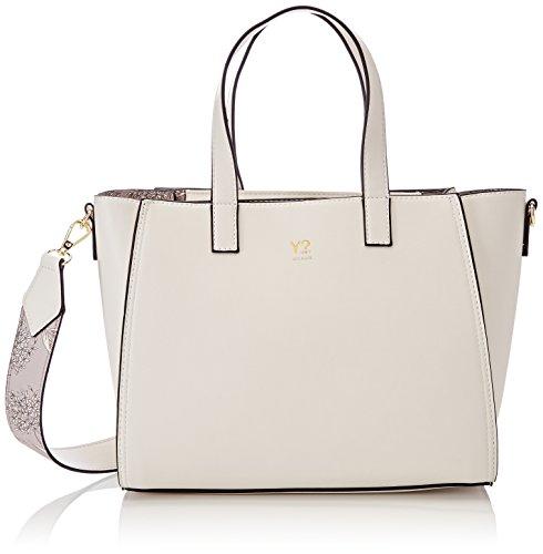 YNOT Shopper, Borsa a Tracolla Donna, 10x23x35 cm (W x H x L) Bianco