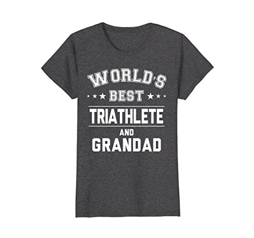 Womens Worlds Best Triathlete And Grandad T-Shirt | Gift CM Small Dark - Triathlete Female Best