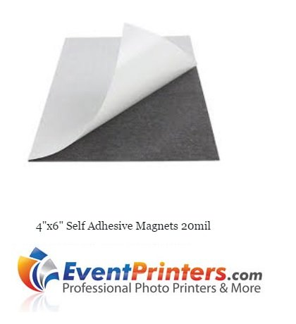 4'' x 6'' SELF-ADHESIVE MAGNETS (Pack of 100). Just peel back the protective paper and place your photo, it's that easy! by Eventprinters