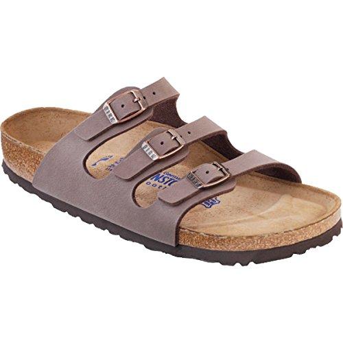 BIRKENSTOCK Women's Florida Birko-Flor Lacquer Mocha Birkibuc Sandals - 39 M EU / 8-8.5 B(M) US by Birkenstock