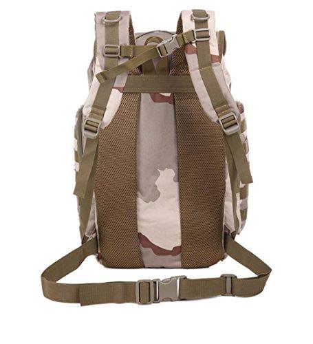 BUSL deportes hombres y mujeres senderismo mochila bolsa de viaje del hombro escalada al aire libre de gran capacidad de 50L . b a