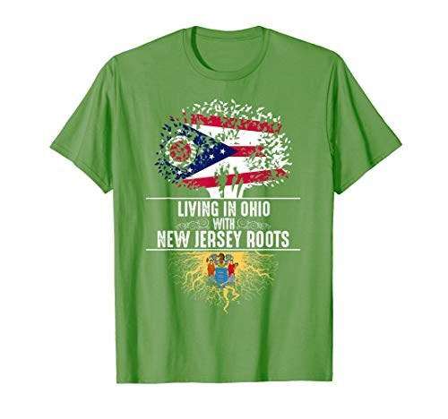 (Ohio Home New Jersey Roots State Tree Flag Shirt Love Gift)