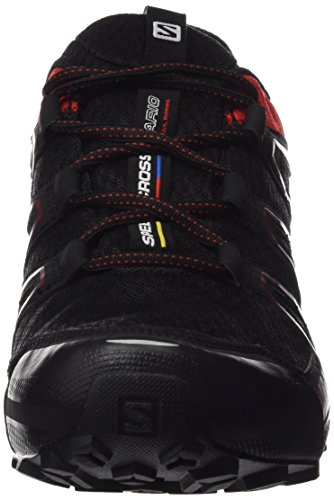 Salomon Speedcross Vario GTX, Scarpe da Trail Running Uomo Nero (Black/Radiant Red/Brique-x)