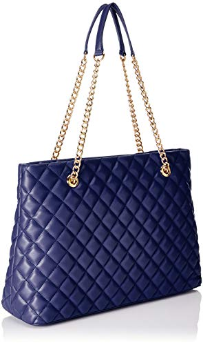 Nappa Satchel Borsa Moschino Love Pu Women's Blue Quilted Blu pxIF4Yqwg