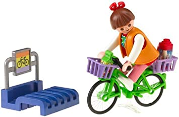 Playmobil Bike Stand with Shopper by PLAYMOBIL®: Amazon.es ...