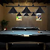 Wellmet 3 Light Pool Table Light, Vintage Retro