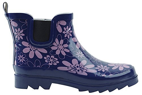 BS Womens Rain Boots Short Ankle Rubber Garden Fashion Snow Shoes Multiple Styles Color Purple xGew5n