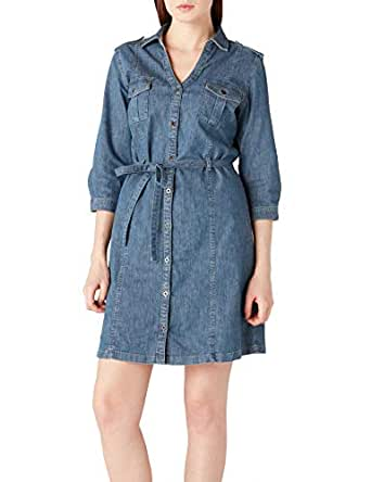 Lee Cooper Kadın Clara Jean Elbise, Mavi, L Beden