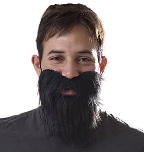 Fake Beard And Mustache (Novelty Fake Black Beard - Costume and Party)