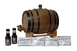 2-Liter American White Oak Barrel Whiskey Kit with Cleaning Kit