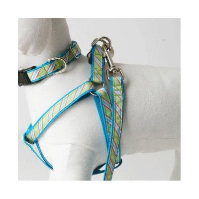 "Crew Stripe Dog Harness Size: .5"" Small"