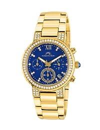 Porsamo Bleu Pilar Stainless Steel Gold Tone & Blue Women's Watch 502BPIS