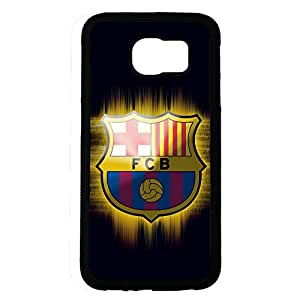Samsung Galaxy S6 Case,FC Barcelona Logo Protective Phone Case Black Hard Plastic Case Cover For Samsung Galaxy S6