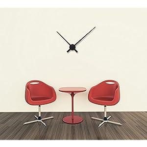 "Nextime 2269zw - Manecillas de reloj de pared;Nextime - 2269zw - Pendule Mural - 90cm de diamètre - Quartz Analogique -aluminuim - Chiffres Noirs - "" Hands "" 7"