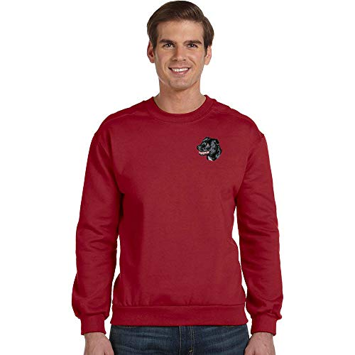 - Cherrybrook Breed Embroidered Anvil Mens Crew Sweatshirt - Small - Independence Red - Staffordshire Bull Terrier