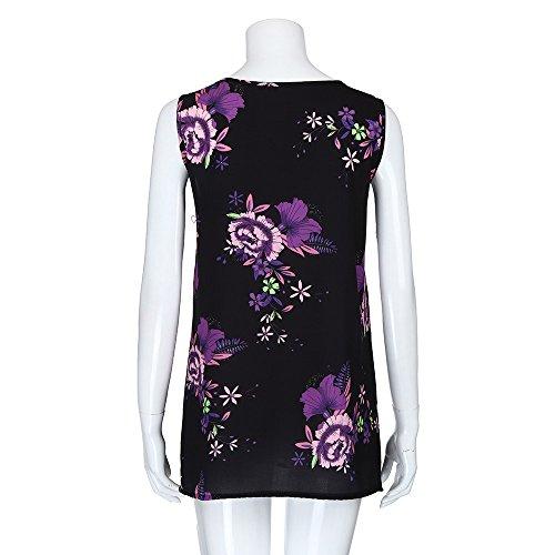 iTLOTL Women Plus Size Print Sleeveless Bandage Tank Vest Blouse Pullover Tops Shirt (US:16/CN:XXXXL, Z-Purple) by iTLOTL (Image #5)