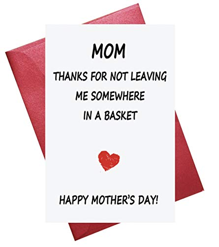 Funny Mother's Day Card, Mothers Day Card, Funny Card for Mum ()